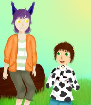 cows are cool by PickledGarlicBulb