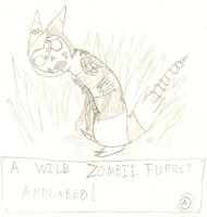 Zombie Furret by QweXTheXEccentric