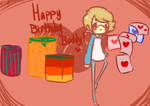 happy early birthday buddy by Cookie-Cakes