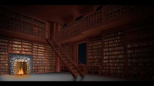 Nighttime Library by Wraeclast