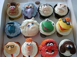 Muppet Cupcakes! by TrunksFanGirl09