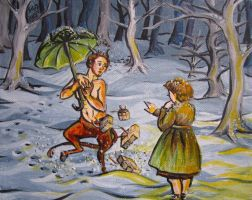 Lucy and Tumnus by Paintsmudger