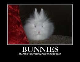 Demotivational poster- Bunnies by chiichiimouse