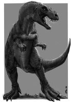 T-Rex Dungeons and Dragons by zelldweller