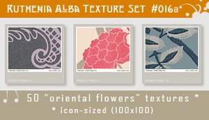 Txt Set 16a: Oriental Flowers by Ruthenia-Alba