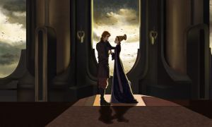Anakin and Padme by ArtCrawl