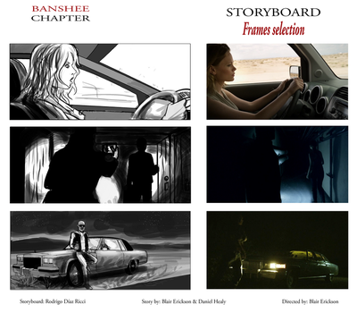 Banshee Chapter - Storyboard sample FRAMES by rdricci