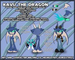 Kavu the Dragon Reference sheet by AoiFoxtrot
