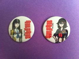Kill La Kill Buttons by bunnybrawl