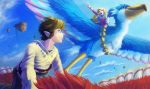 skyward flying link and zelda by lakengubben