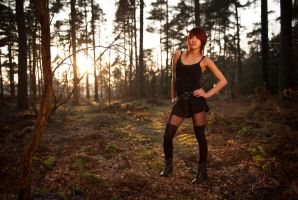 Sunset Pose in Woodland by EngagingPortraits