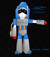 my first transformer : Jet by tzumii