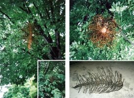 Giant Wire Pinecone by Ahrum