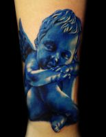 Blue angel tattoo by hatefulss