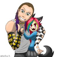 Yuki meets Jeff Hardy by MoonyWings