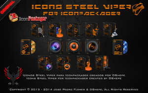 Iconos Steel Viper for Iconpackager by DShepe by DShepe