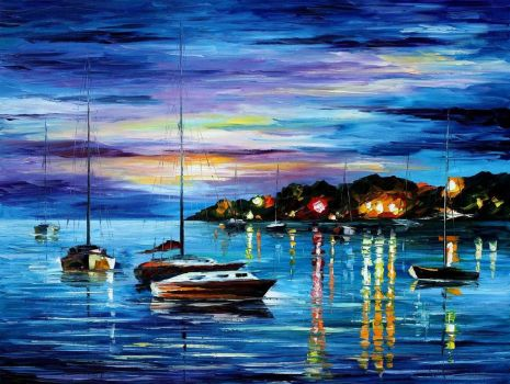 MYSTERY OF THE NIGHT by Leonid Afremov by Leonidafremov