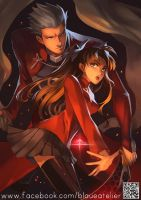 Fate Stay Night Unlimited- Archer and Rin by Sobachan