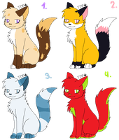Cat Adoptables 2 by lemoncave