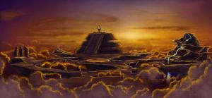 Plateau of the gods by Ferain