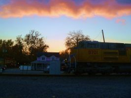 UP 8701 at Sunset by SwiftWindSpirit