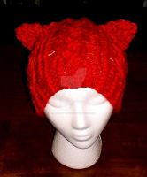 Loom Knitted Cabled Cat Hat by ScarlettRoyale