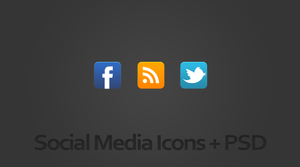 Facebook Twitter and RSS icons by suraj78