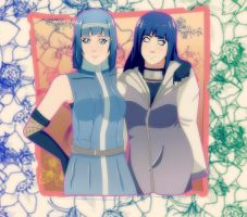 AT:Hinata and Raigyoku by lazycreator