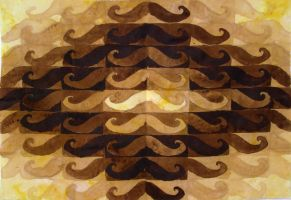 Mustache fabric by cowboypunk