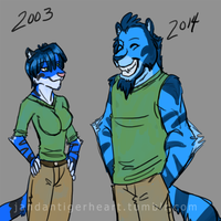 Fursona Then and Now by Songficcer