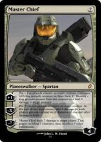 Master Chief Planeswalker by DragonMaster42