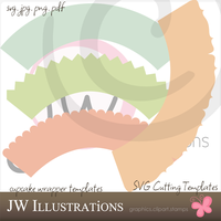 Cupcake Wrapper SVG Templates by jdDoodles