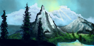 Dawn over the Mountains by florajessica
