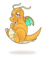 Pokemon: Dragonite by jiggly