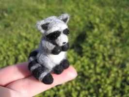 Miniature Raccoon by Elfs-Toyshop