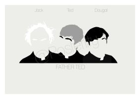 Father Ted Poster Minimal Posteritty by Posteritty