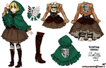 Scouting Legion Lolita-Inspired Uniform by PhantomMarbles