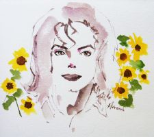 Michael Jackson Little Sunflowers by HitomiOsanai