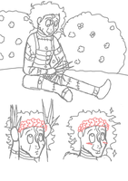 Eddie and flower crowns by sweeneytoddfan7
