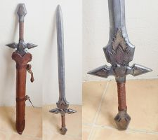larp sword with scabbard by GammarusPulex