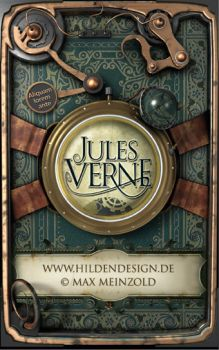 Jules Verne - Steampunk cover by MaxMade