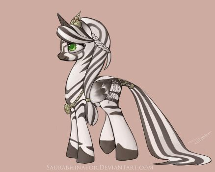 Zebra Princess by Saurabhinator