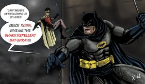 Batman and Robin vs an old enemy by Xavtkd