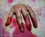 Halloween 2009 - Severed hand by ebonyraven