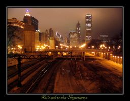 Railroad to the Skyscrapers by deepestwonder