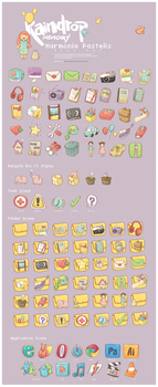 Harmonia Pastelis Icon Set by Raindropmemory