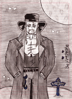 The Undertaker Cartoon No. 2 With Background by HARDTAKER