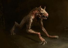 Horror Creature Concept 3 - Hound by Cloister