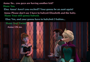 Hans and Elsa tell Anna she'll be an aunt... by frozen4eva