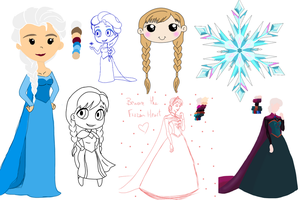 Frozen Sketch Dump by the-rose-of-tralee